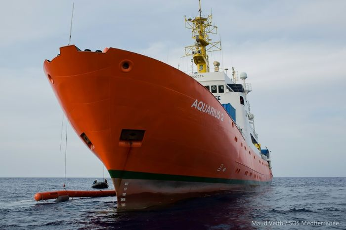 Maud VEITH (SOS MEDITERRANEE/AFP)