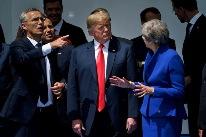 Trump lobs Brexit verbal grenade at May