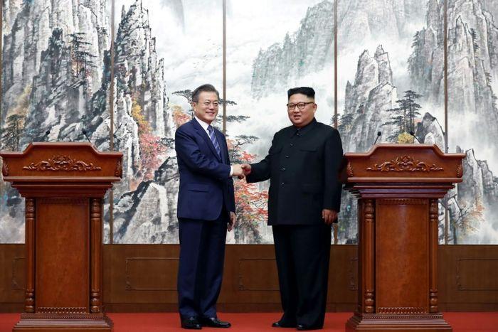 - (Pyeongyang Press Corps/AFP)