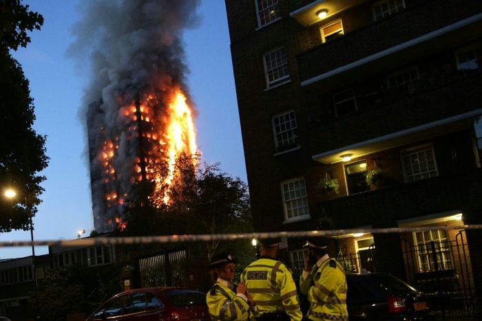 Massive fire at 27-storey tower block in London, several injured