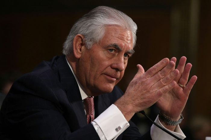 STATE DEPARTMENT Rex Tillerson sworn in as top USA  diplomat