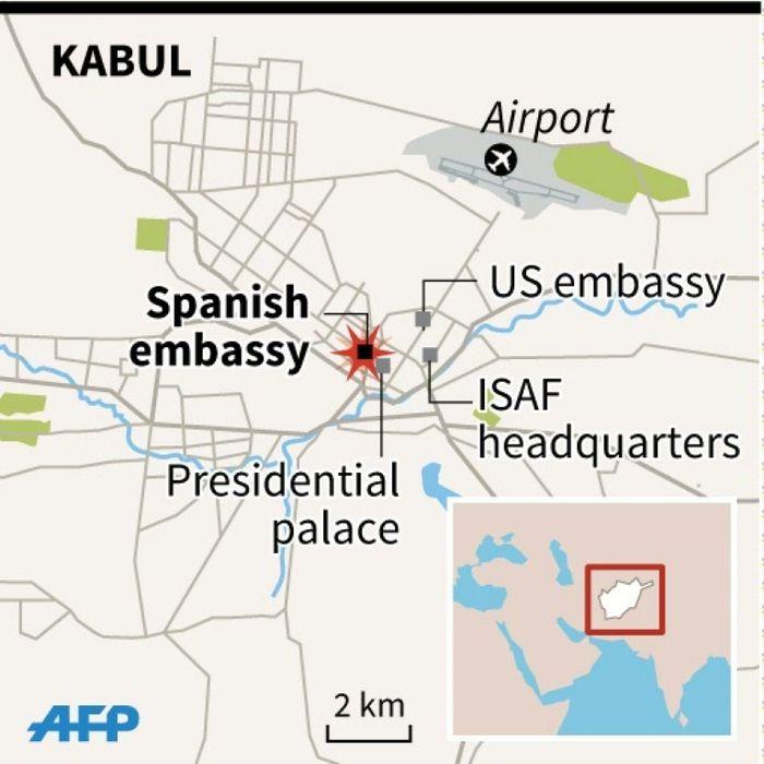 i24NEWS - Spanish policeman killed in Taliban raid on Kabul ...