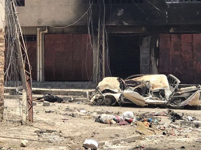 Mosul's famous al-Nuri mosque blown up