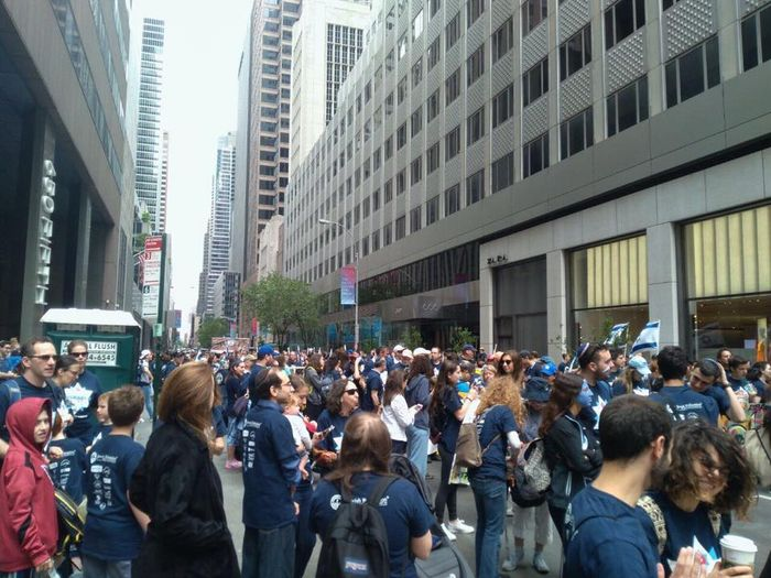 Celebrate Israel parade marches up 5th Avenue in Manhattan