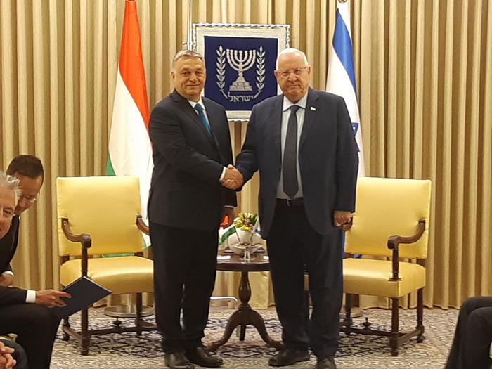 Hungarian PM Orban on Israeli visit
