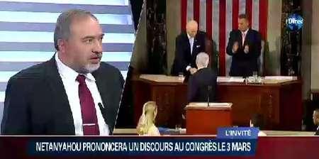 Avigdor Lieberman sur le plateau d'i24news
