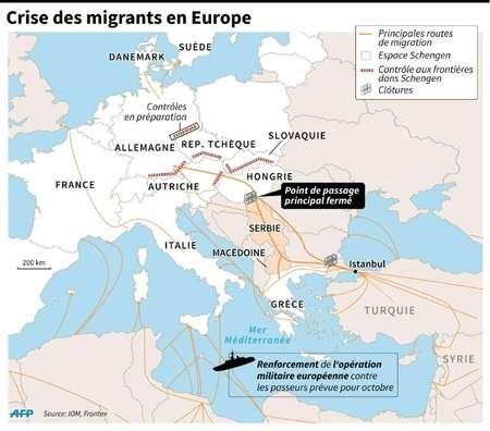 Crise des migrants en Europe ( jgd/smi/jj, jj/sim (AFP) )