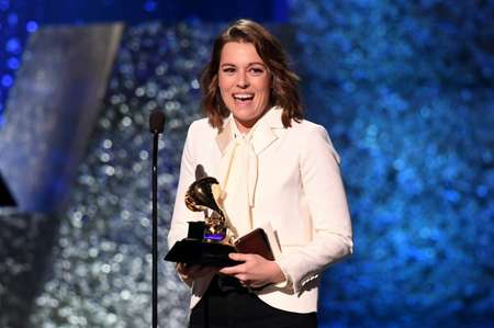 Brandi Carlile accepts the Grammy for American Roots Performance for