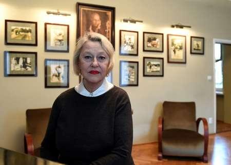 Teresa Zabinaka, fille de Jan et Antonina Zabinski dans la villa de ses parents transformée en musée, le 21 mars 2017 ( Janek SKARZYNSKI (AFP) )