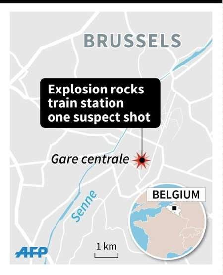 Explosion in Brussels ( Thomas SAINT-CRICQ (AFP) )