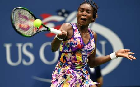 Venus Williams' victory over Ukraine's Kateryna Kozlova marked her 72nd appearance in the main draw of a major ( Jewel Samad (AFP) )