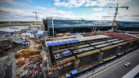 The new part of Domodedovo International Airport, outside Moscow, will open before the 2018 FIFA World Cup football tournament, one of many sensitive areas that could be targeted by terrorists ( Alexander NEMENOV (AFP/File) )