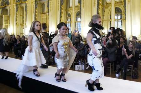 Models present creations during the