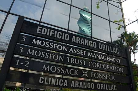 View of a sign outside the building where Panama-based Mossack Fonseca law firm offices are housed in Panama City on April 3, 2016 ( Rodrigo Arangua (AFP) )