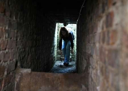 Le tunnel de la villa de Zabinski où des Juifs avait été cachés pendant la guerre, le 3 mars 2017 ( Janek SKARZYNSKI (AFP) )
