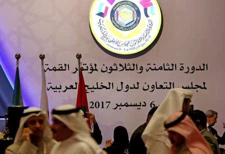صحافيون في مركز الاعلام الخاص بقمة مجلس التعاون الخليجي، الثلاثاء 5 كانون الاول/ديسمبر 2017 ( ياسر الزيات (ا ف ب) )