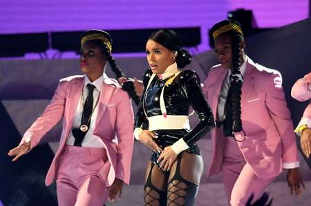 US singer-songwriter Janelle Monae performs at the Grammys, which opened with a clear message -- women rule ( Robyn Beck (AFP) )