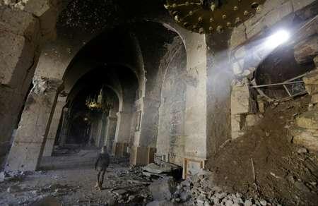 دمار في الجامع الاموي في حلب
