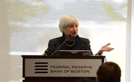 Federal Reserve Chairman Janet Yellen speaks at the Federal Reserve Bank of Boston October 17, 2014 in Boston, Massachusetts ( Darren Mccollester (Getty Images/AFP/File) )