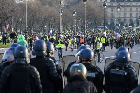 Both European deputies and UN experts expressed concern this week at what they said was the disproportionate police response to violence at the 'yellow vest' demos ( Eric FEFERBERG (AFP) )