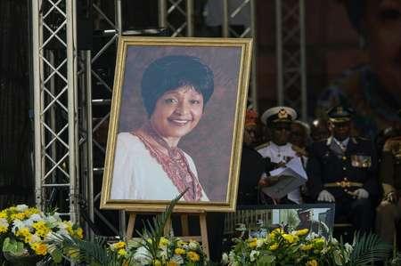 مراسم جنازة ويني مانديلا في 14 نيسان/ابريل 2018 في جوهانسبورغ. ( ويكوس دي ويت (AFP/ارشيف) )