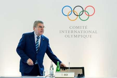 رئيس اللجنة الاولمبية الدولية الالماني توماس باخ في لوزان ( فابريس كوفريني (اف ب/ارشيف) )