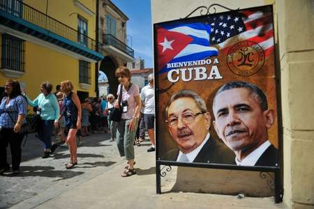 US President Barack Obama's rapprochement with Cuba fueled speculation a decades-old policy allowing Cubans arriving illegally on US soil to stay would be scrapped ( YAMIL LAGE (AFP/File) )