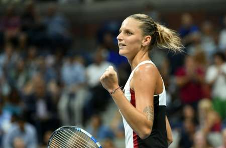 Karolina Pliskova of Czech Republic had never made it past the third round of a Grand Slam in 17 prior attempts ( Timothy A. Clary (AFP) )