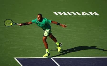 Nick Kyrgios beats Novak Djokovic for the second time in as many weeks and books an Indian Wells quarter-final berth ( CLIVE BRUNSKILL (GETTY IMAGES/AFP/File) )