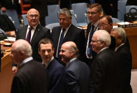 Les ministres des Finances réunis au Conseil de sécurité des Nations Uniesn le 17 décembre 2015 à New York   ( TIMOTHY A. CLARY (AFP) )