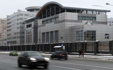 Headquarters of the Russian GRU military intelligence agency in Moscow ( Natalia KOLESNIKOVA (AFP) )