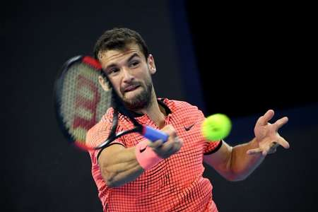Bulgaria's Grigor Dimitrov beat Rafael Nadal of Spain 6-2, 6-4 in the China Open quarter-finals on October 7, 2016 ( Wang Zhao (AFP) )