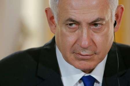 رئيس الوزراء الاسرائيلي بنيامين نتانياهو في مؤتمر صحافي في قصر الاليزيه في باريس في 16 تموز/يوليو 2017 ( ستيفان ماهي (تصوير مشترك/اف ب) )
