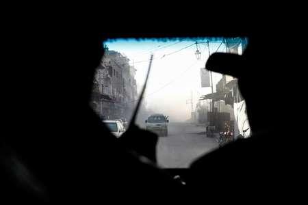 لقطة من داخل سيارة اسعاف