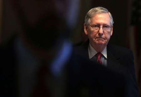 US Senate Majority Leader Senator Mitch McConnell (R-KY), pictured in April 2017, warned a federal government shutdown could get a lot worse ( ALEX WONG (AFP/File) )