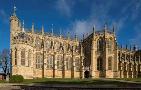 St. George's Chapel was radically rebuilt between 1475 and 1528 into the grand feat of Gothic architecture seen today ( Dominic Lipinski (POOL/AFP/File) )