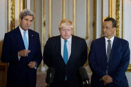كيري ونظيره البريطاني وموفد الامم المتحدة