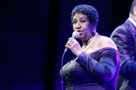 Aretha Franklin, le 3 mai 2011 à New York City ( Andy Kropa (AFP/Archives) )