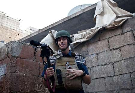 A picture taken on November 5, 2012 in Aleppo shows US freelance reporter James Foley, who was kidnapped in war-torn Syria ( Nicole Tung (AFP/File) )