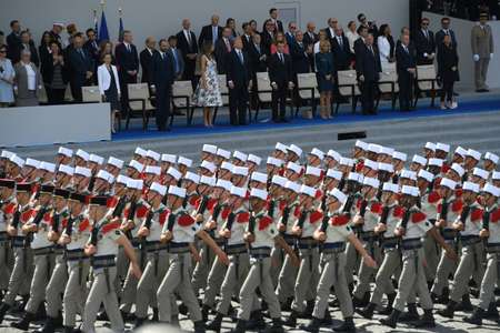 When US President Donald Trump visited Paris last July for Bastille Day, he made no secret of his awe for the pomp and ceremony of the occasion ( CHRISTOPHE ARCHAMBAULT  (AFP/File) )