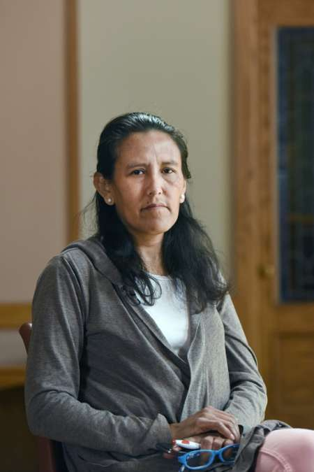 Jeanette Vizguerra worked as a janitor and a union organizer after moving to the US, and is known in the Denver area as an immigration advocate ( Chris Schneider (AFP) )