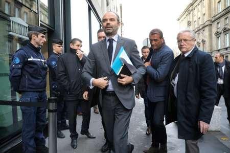 Édouard Philippe à son arrivée à l'Assemblée nationale à Paris avant la réunion du groupe LREM et Modem le 4 décembre 2018 ( ludovic MARIN (AFP) )