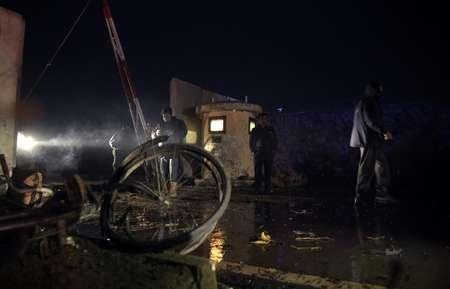 انتشار امني في موقع التفجير في كابول
