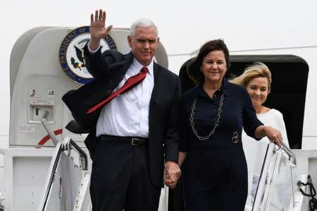 US Vice President Mike Pence has arrived in Japan armed with commitments designed to soothe his nervous hosts, who are worried by North Korea's growing belligerence  ( Toshifumi KITAMURA (AFP) )