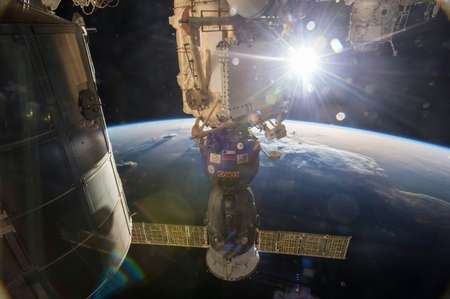 File picture from NASA shows the Soyuz TMA-15M vehicle docked with the International Space Station ( NASA/HO/AFP/File )
