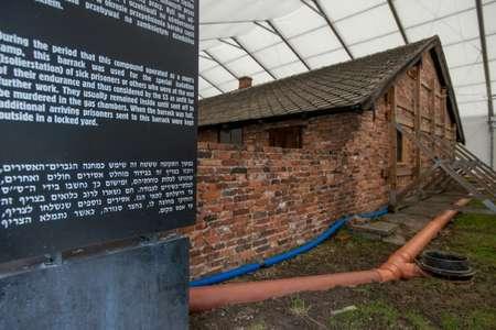 The team preserving the former Nazi German death camp Auschwitz-Birkenau aims to make their work unnoticeable ( BARTOSZ SIEDLIK (AFP) )