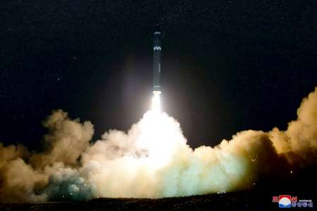 Pyongyang says it has mastered the tricky technology necessary to ensure a missile survives atmospheric re-entry ( KCNA VIA KNS (KCNA via KNS/AFP) )