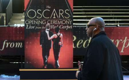 Preparations continue for the 89th Academy Awards amid tight security on Hollywood Boulevard ( Frederic J. Brown (AFP) )