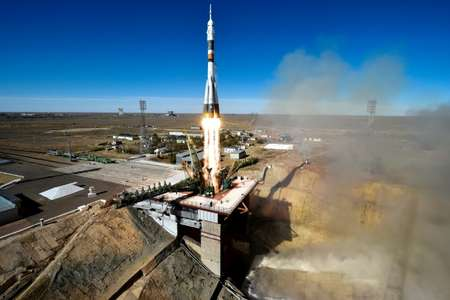 Observers said the astronauts survived the launch failure thanks to the Soviet-era rocket's rescue system ( Kirill KUDRYAVTSEV (AFP) )