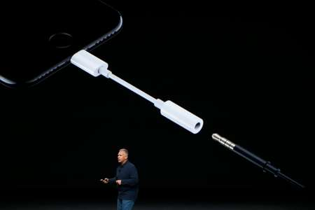 The removal of the headphone jack, requiring audio to be delivered via Apple's proprietary